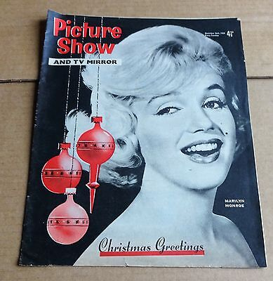 PICTURE SHOW  MAGAZINE  DECEMBER 24th 1959 CHRISTMAS ISSUE  MARILYN MONROE