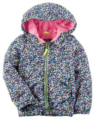 Carter's Big Girls' Floral Print Jersey Lined Jacket Size 4 5/6 7/8 $44