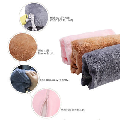 Electric Rechargeable Hot Water Bottle Heat Pad Soft Hand Warmer Pouch/Cover