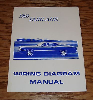 1957 ford thunderbird wiring diagram manual brochure 57 9 00 rh picclick com  1968 ford fairlane 500 wiring diagram