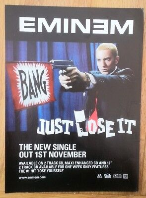EMINEM Just Lose It magazine ADVERT / Poster 11x8 inches
