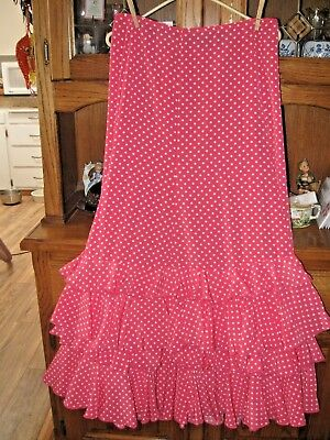 Flamenco dance Authentic skirt/ Polka dots Medium New With Label Spain