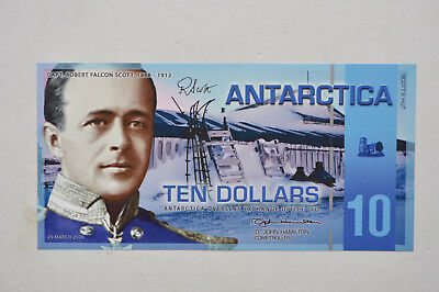 2009 $10 Capt. Robert Falcon Scott Antarctica Ten Dollar Bank Note Uncirculated
