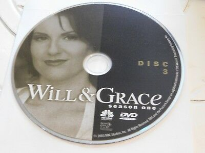 Will & Grace First Season 1 Disc 3 DVD Disc Only 35-61