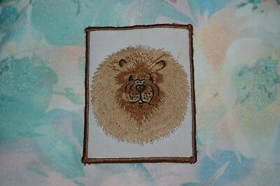 Embrodiered Chow Chow Head Patch, Very detailed & Excellent condition, 1 of kind