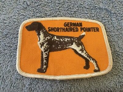 Vintage Dog Show Breeders Patch German Shorthaired Pointer Sew On Stitched Patch