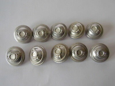 FRANCE  2è GM + INDOCHINE : LOT 10 BOUTONS CHASSEURS 25MM / ALUMINIUM