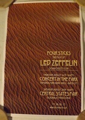 """Led Zepplica /""""A Tribute To Led-Zeppelin/"""" Rock Tribute Band Black T Shirt"""