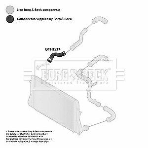 AUDI TT 8J9 2.0 Turbo Hose Front Lower, Right 08 to 10 CCZA Charger B&B Quality
