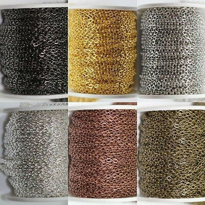 Lots 2/5m Cord Wire String Finding Jewellery Making Chain 4x3 MM Crafts DIY