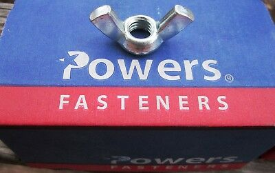 "100X Powers 1/2""-13 wing nuts cold forged steel lot of 100 new in box"