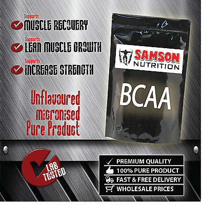 BCAA 500g SAMSON NUTRITION 2:1:1 BCAA RATIO |UNFLAVOURED POWDER| PURE AMINO ACID