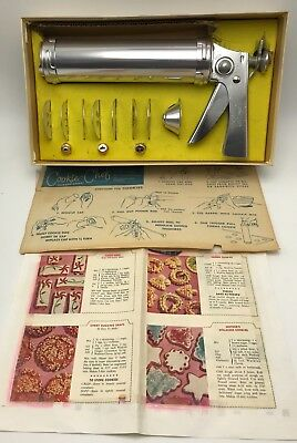 Vintage Trigger Quick Cookie Chef Cooky Pastry Spritz Gun Press Canape Decorator