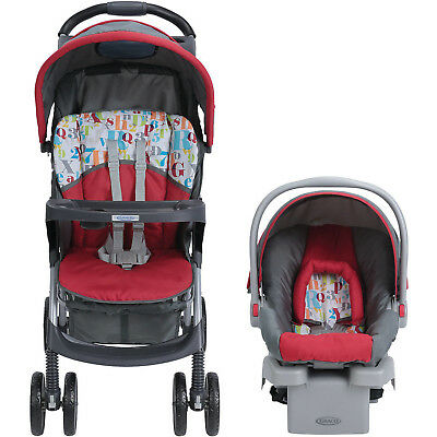 LiteRider Click Connect Travel System With SnugRide Car Seat New