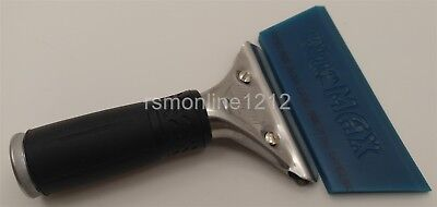 Unger Pro Handle w/ Cropped Blue Max Squeegee Blade Window Tint Tool