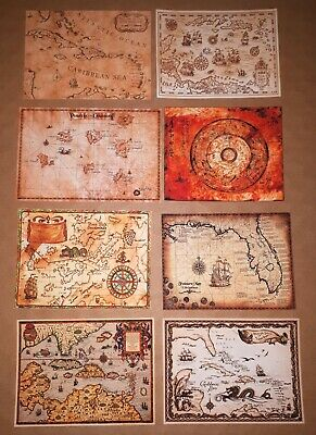 1/6 Scale Pirate Maps Set of 6 - Pirates of the Caribbean Jack Sparrow Hot Toys