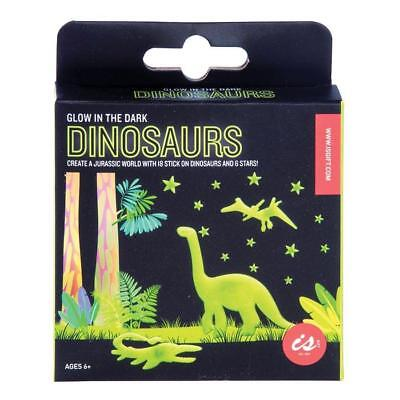 NEW iS Gift Glow in The Dark Wall / Ceiling Stickers - Dinosaurs & Stars