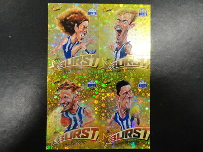 2018 Afl Select Footy Stars Yellow Starburst Caricature Set Of 4 North Melbourne