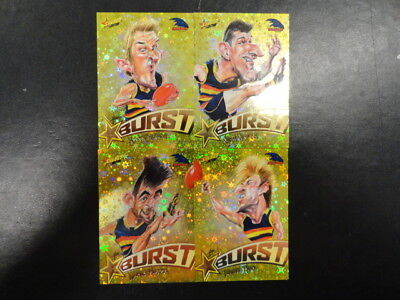 2018 Afl Select Footy Stars Yellow Starburst Caricature Set Of 4 Adelaide