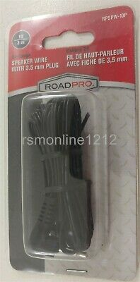 RoadPro RPSPW-10P Replacement Speaker Wire 10 ft With 3.5mm Plug to Stripped End