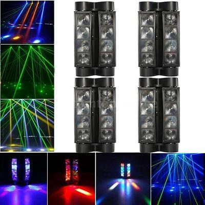 4PCS  80W LED Spider Beam Moving Head Stage Lighting DJ Disco Party Light