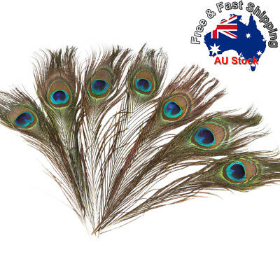5/10/20/30 * 25-30cm Peacock Eye Feathers Tail Eye Feather Wedding Party DIY L