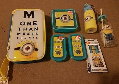Minions Dispicable school pk containers drink bottle new