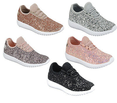 Baby Toddler Girls Bling Glitter Sequin Sneakers Comfortable Lightweight Shoes