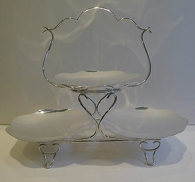 English Silver Plated Cake Stand by LEVESLEY BROTHERS of Sheffield c.1900
