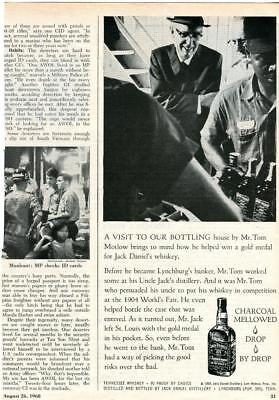 1968 Jack Daniels Whiskey Print Ad Tom Motlow Brings Gold Medal To Jack Daniel's