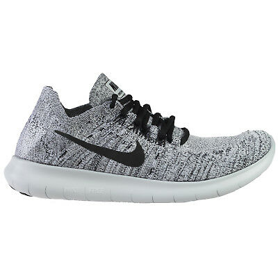 d49caee8c914 Nike Free RN Flyknit 2017 Womens 880844-101 White Black Running Shoes Size  10