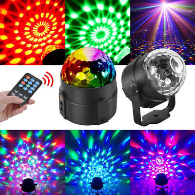 RGB LED Effect Disco Light Stage DJ Laser Crystal Magic Ball Lights Club Party