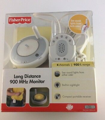 FISHER PRICE LONG DISTANCE 900 MHz Baby MONITOR Ft Range