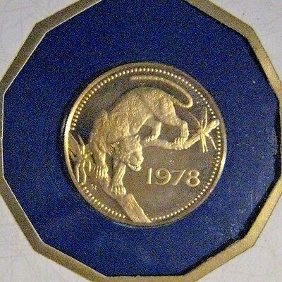 1978FM Belize $250 Dollar Gold Proof Coin w/Case Sleeve ** FREE U.S. SHIPPING **