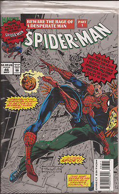 Spider-Man #46-B silver cover polybagged with animation cel Marvel Demogoblin VF