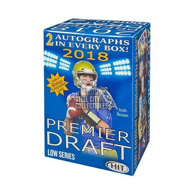 2018 Sage Hit Premier Draft Low Series Football Blaster Box