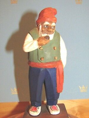 A Little Larger Version of Trygg Signed & Dated Wood Figure I Have Listed.
