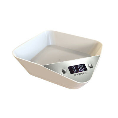 5kg Plastic Digital Electronic Kitchen Cooking Food Weighing Scales White x1