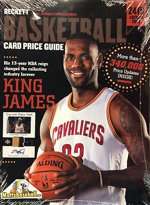 New! 2016 Beckett Basketball Annual Price Guide #24 LeBron James $29.95 cover