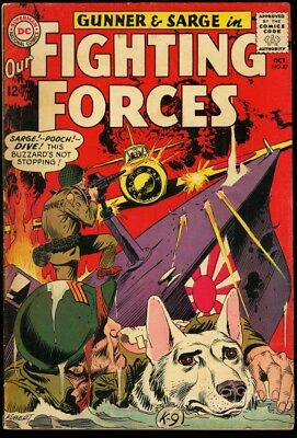 Our Fighting Forces #87 1964-Joe Kubert Cover Vg