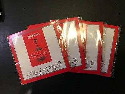D'Addario Prelude Set Cello Strings 4/4 30% Less Than RRP of £77.50
