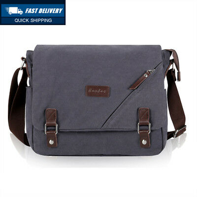 5028ee6a18 IBAGBAR SHOULDER BAG Mens Messenger Cross-body Casual Day Canvas for Men  and... - EUR 33