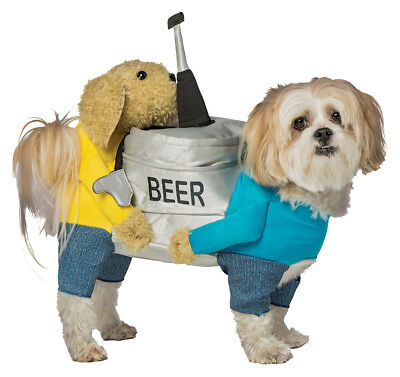 Two Dogs Carrying a Beer Keg Pet Costume - 5 sizes fnt
