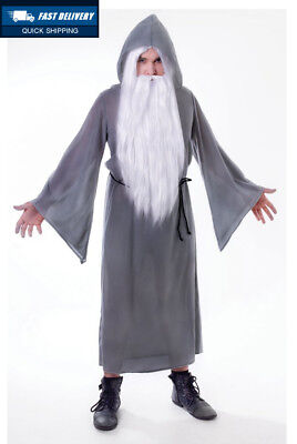 Bristol Novelty AC130 Wizard Cloak, Grey, One Size