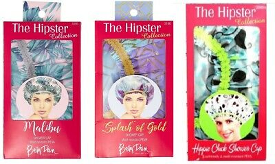 Betty Dain The Hipster Collection - MALIBU / SPLASH OF GOLD Shower Cap FREE SHIP