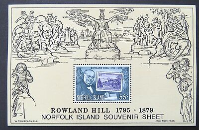 1979 Norfolk Island Stamps - Centenary-Death of Sir Rowland Hill Mini Sheet MNH