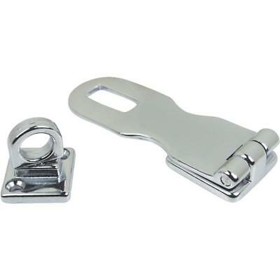 """Old Style 222130 Sea-Dog Line 3/"""" Cast Brass Chrome Plated Swivel Hasp 132-182"""