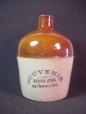RED WING Excelsior Springs Missouri Souvenir Miniature Whiskey Jug