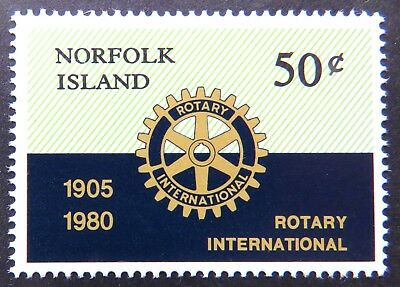 1980 Norfolk Island Stamps - 75th Anniversary of Rotary Int'l - Single 50c MNH