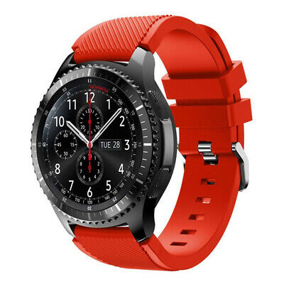 For Samsung Gear S3 Frontier Classic Band Silicone Bracelet Watch Strap Red